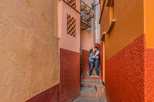 Callejón del beso de Guanajuato.