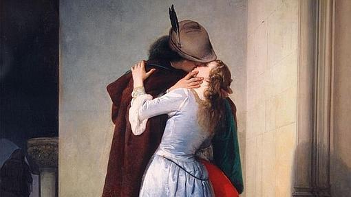 """""""El beso"""" de Francesco Hayez."""