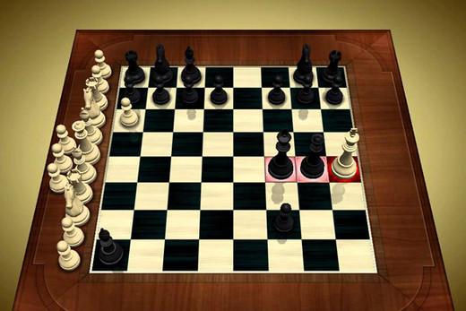 Beso de la muerte en el ajedrez.