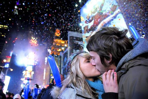 Un beso para tener suerte todo el año.
