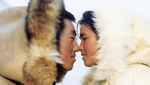 Significado del beso esquimal.