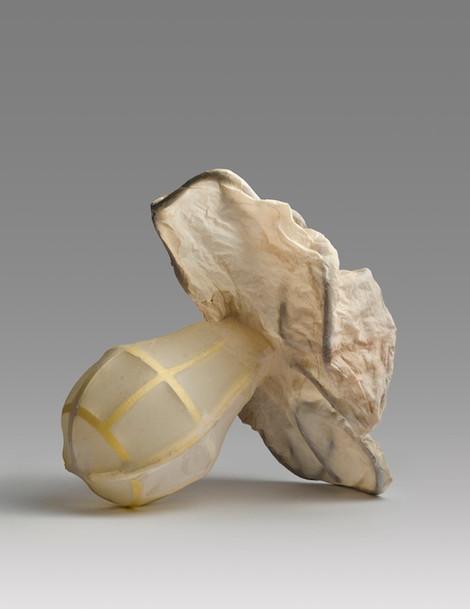 A.M.#1, 2013, handmade abaca over salvaged plastics, 9.5 x 9.75 x 8 inches