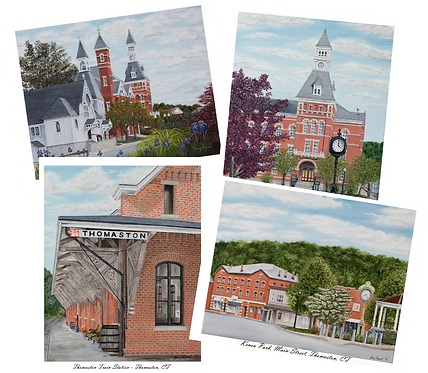 Thomaston CT Collection Note Cards / 4 pack with envelopes