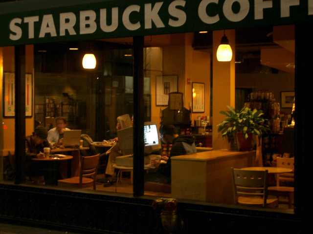 Starbucks from the Street