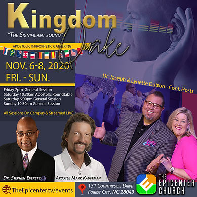 Kingdom Quake, Dr. Dutton, Dr. Stephen Everett, Apostle Mark Kauffman, Forest City NC, The Epicenter Church, Dominion TV