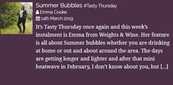 Summer Bubbles #tastythursday