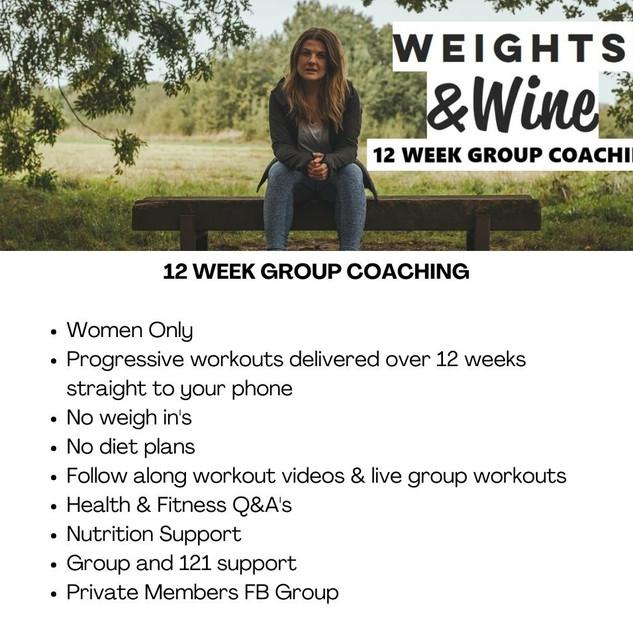 12 WEEK GROUP COACHING
