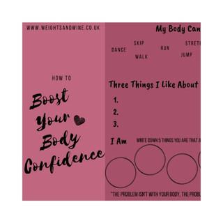 Body Confidence Worksheet