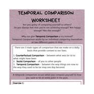 Temporal Comparison Worksheet