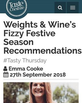 Weights & Wine's Fizzy Festive Season Recommendations