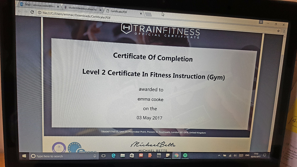 Level 2 Certificate in Fitness Instruction