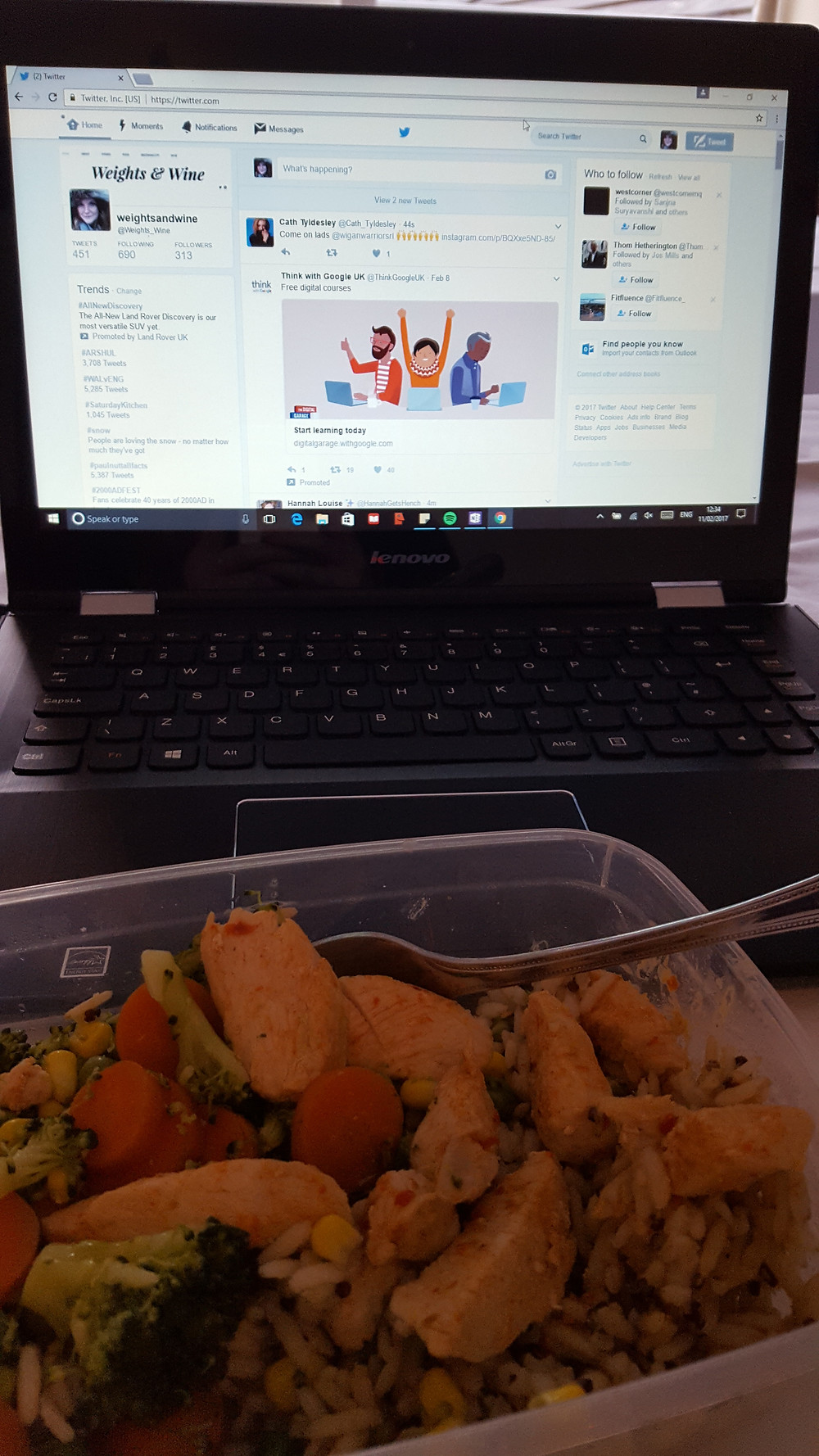 Twitter break for lunch