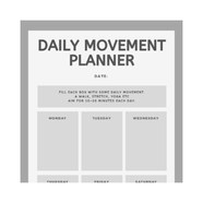 Daily Movement Planner
