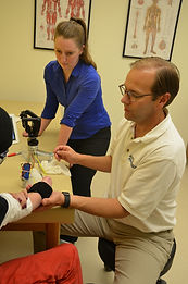 working with upper limb amputee