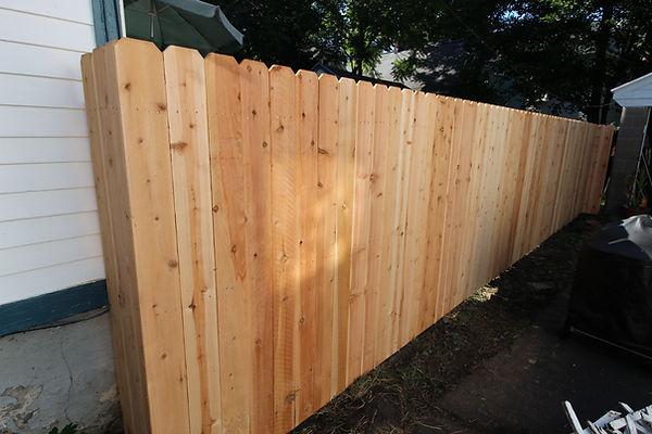 Dog ear picket fence