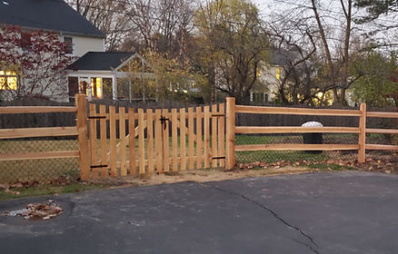 Concave wood gate