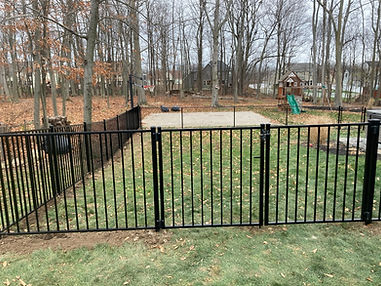 Aluminum and chain link fence