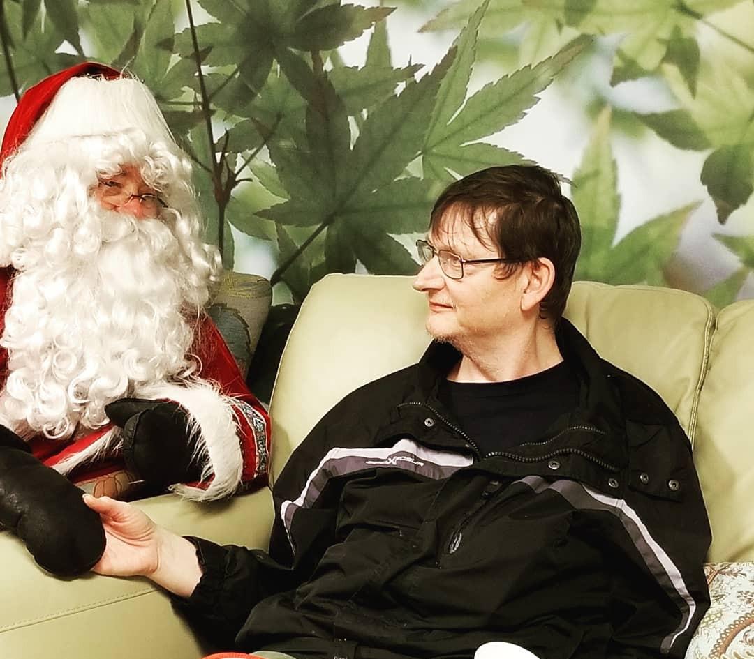 Santa assured him he's been good!