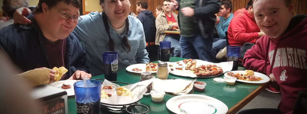 Fun at Round Table Pizza