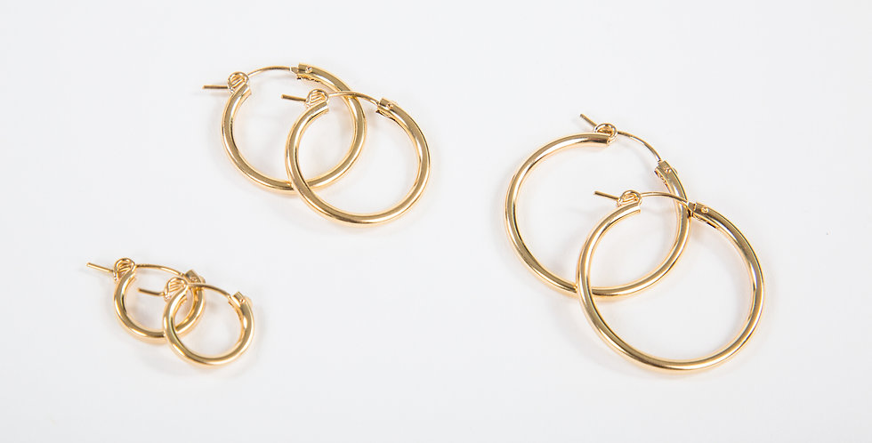 Mast Hoop Earrings Gold