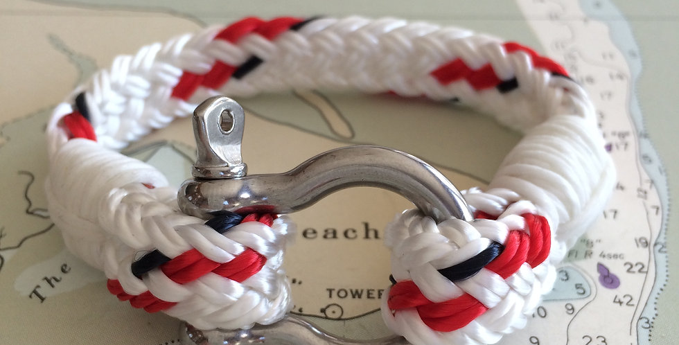 Rigger Yacht Braid & White Stainless Steel Shackle