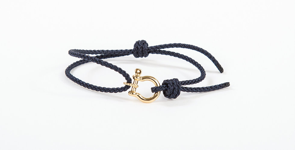 Mariner Shackle Bracelet - 14kt gold dipped