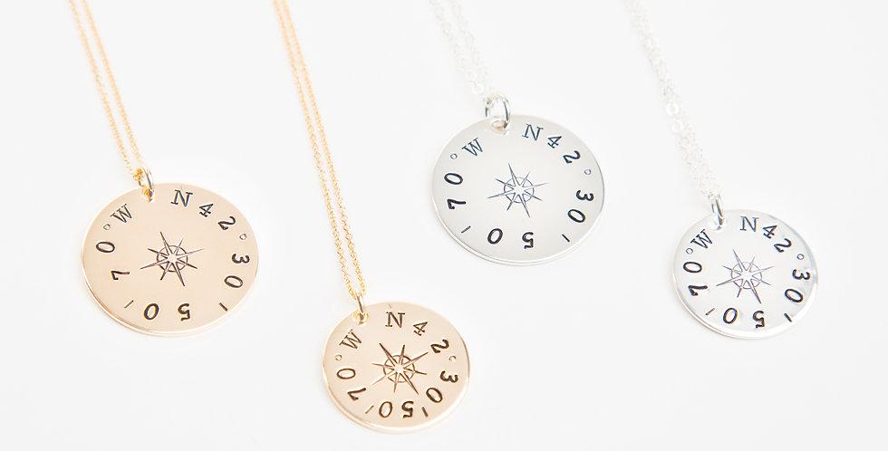 True North Compass Rose Necklace