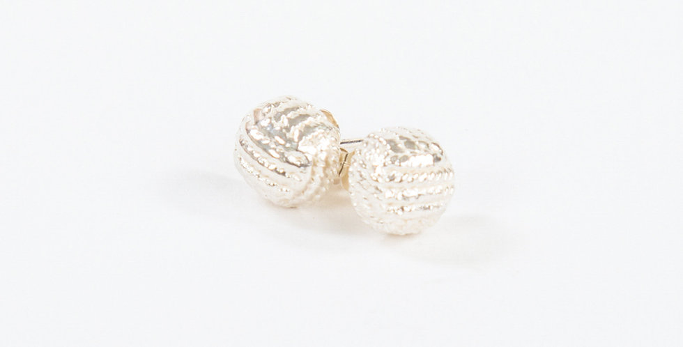 Monkey Fist Earrings Sterling Silver