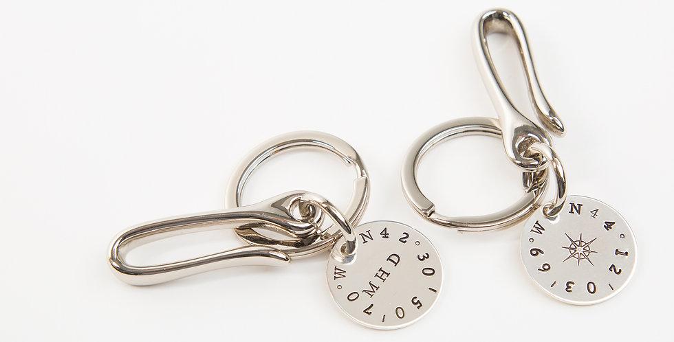 True North Sterling Silver Key Ring