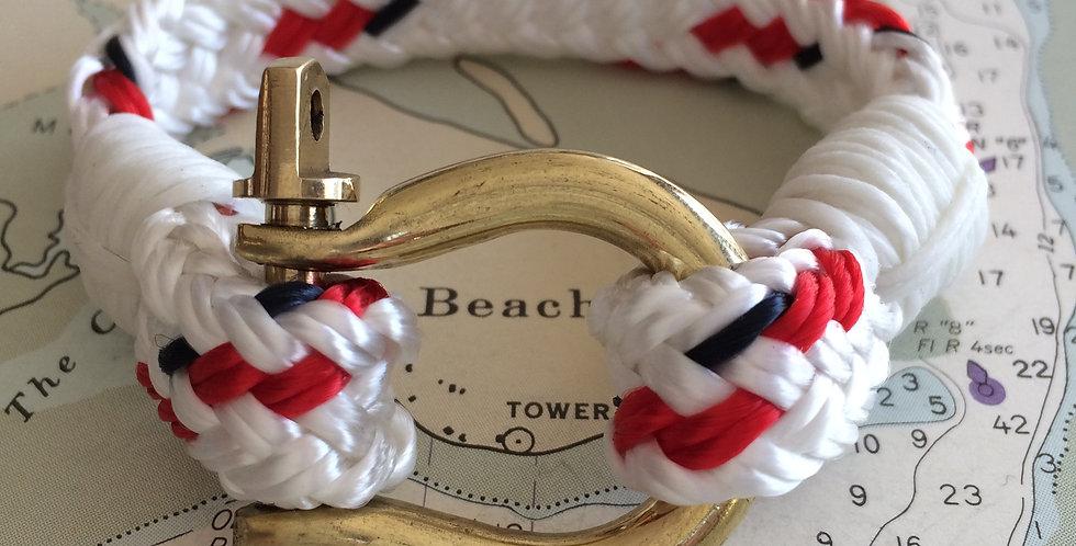 Rigger Yacht Braid & White Brass Shackle