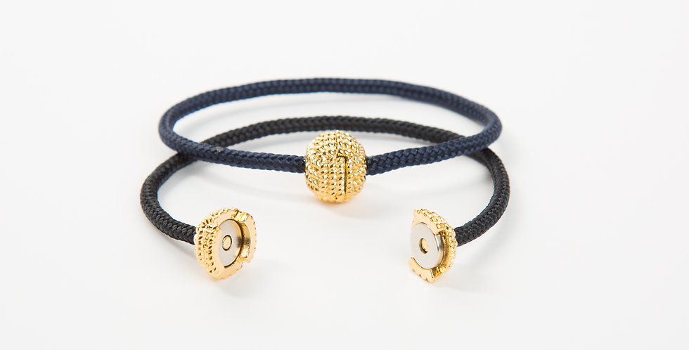 Captain's Cord Bracelet: Gold