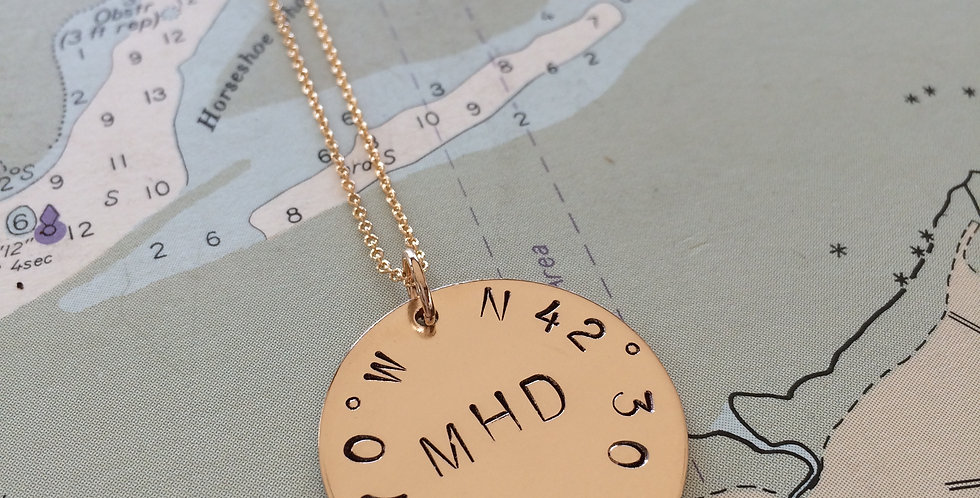True North Yacht Club Gold Necklace