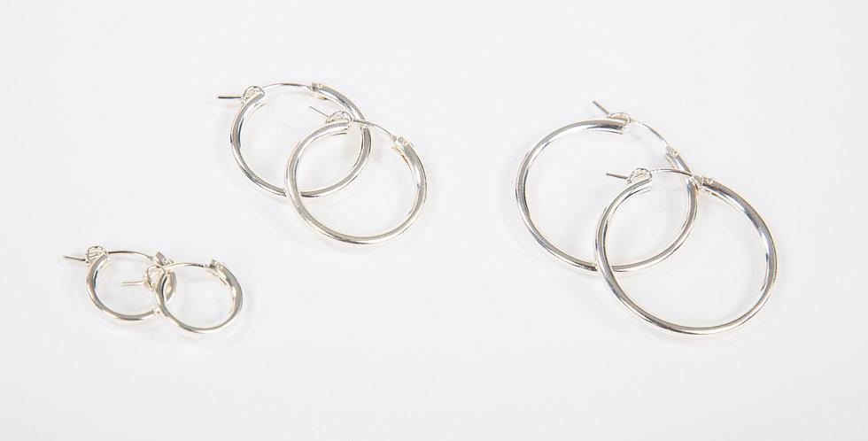 Mast Hoop Earrings Sterling Silver