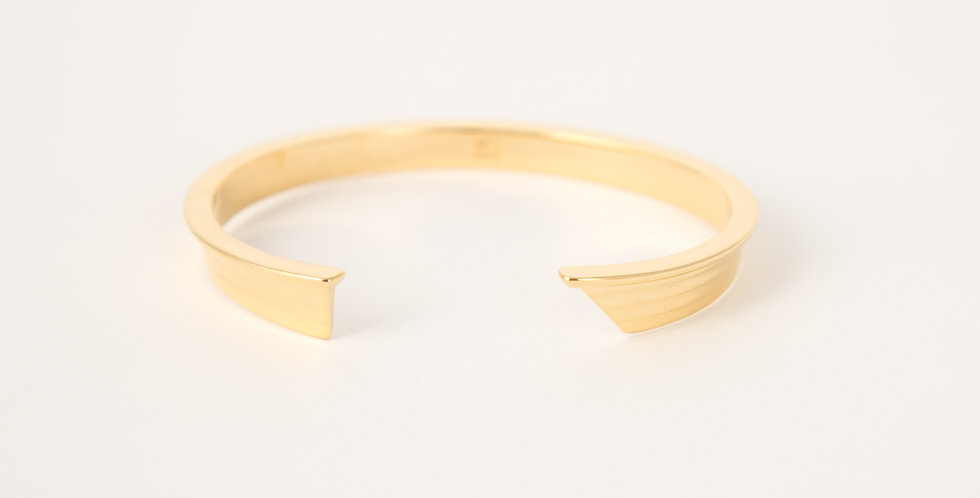 New England Dory Cuff 14kt gold dipped