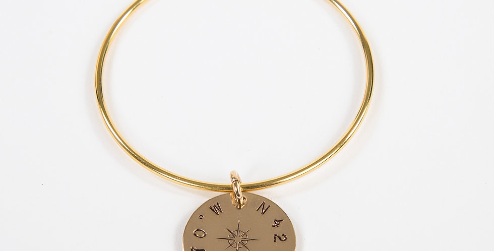 True North Compass Rose Gold Bangle