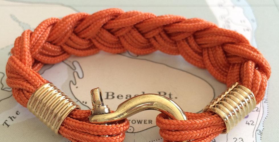 Summer Bracelet Brass Shackle: Orange