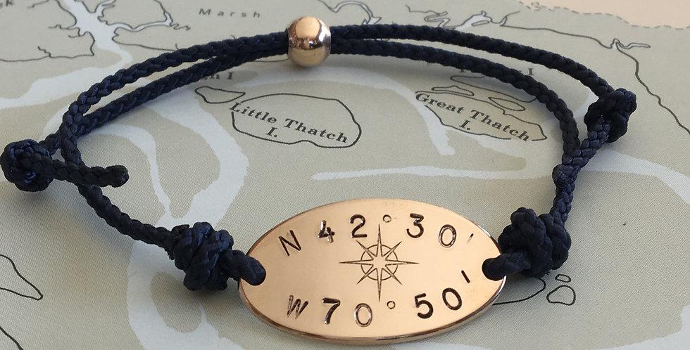 Horizon Compass Rose Gold Fill Bead Clasp
