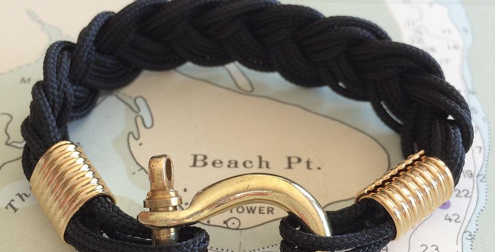 Summer Bracelet Brass Shackle: Black