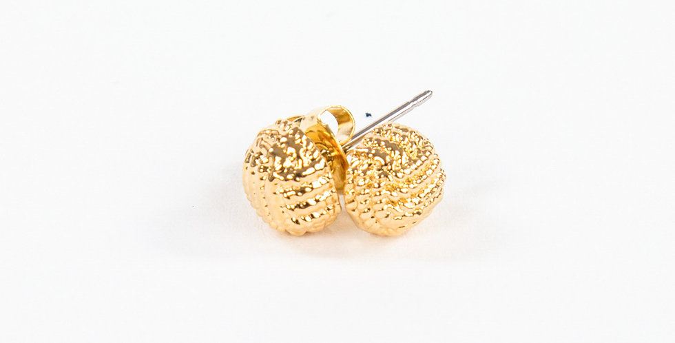 Monkey Fist Earrings 14kt gold dipped