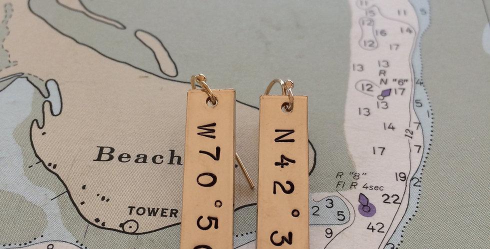 Waypoint Gold Earrings