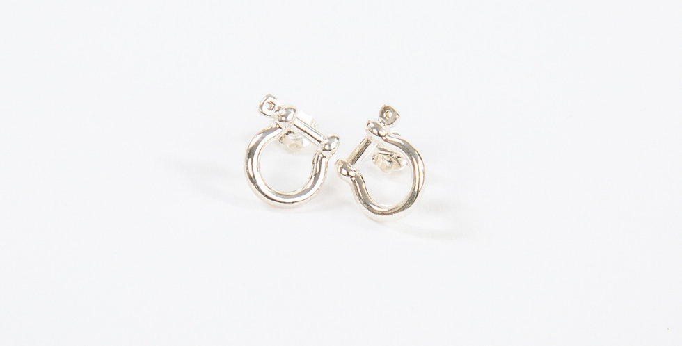 Mariner Shackle Earrings Sterling Silver