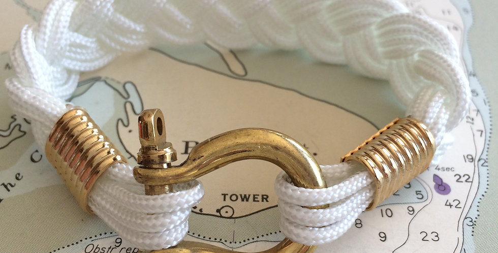 Summer Bracelet Brass Shackle: White