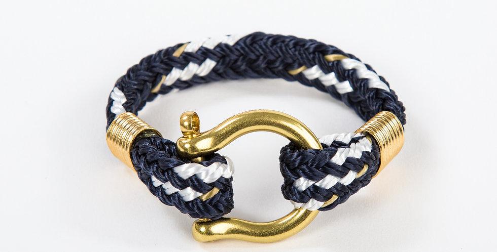 Bosun Navy Fleck Brass Shackle