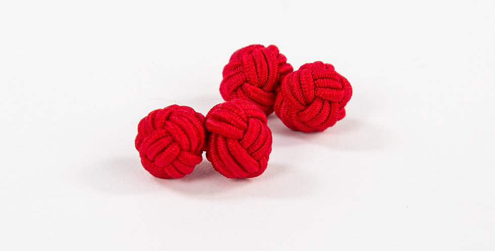 Monkey Fist Cuff Links: Red Right Return