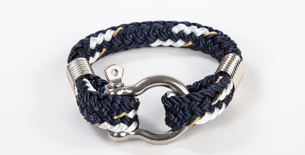 Bosun Navy Fleck Stainless Steel Shackle