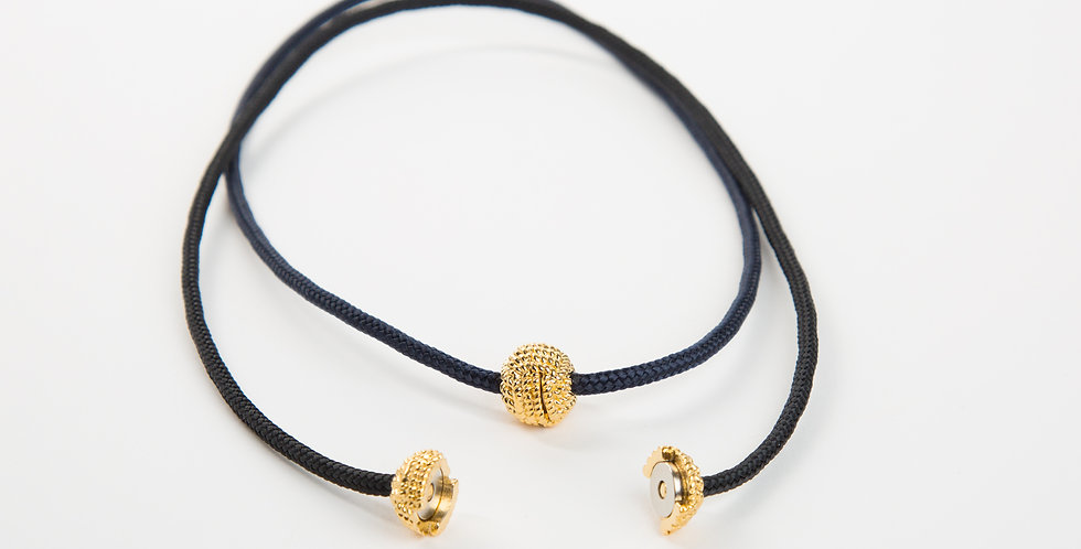 Captain's Cord Necklace Gold
