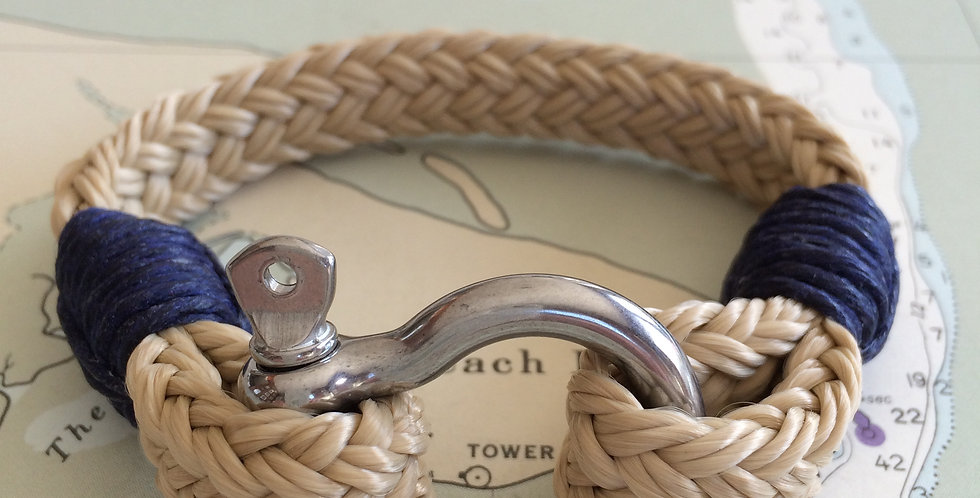 Rigger Classic Khaki & Navy Stainless Steel Shackle