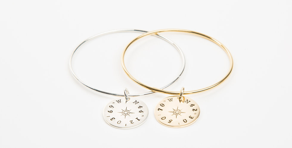 True North Compass Rose Bangle