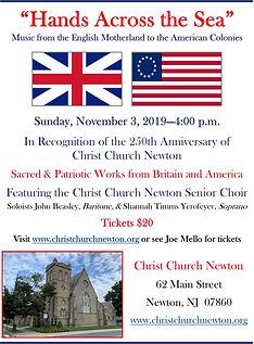 Anglo American Concert Flyer, November 2