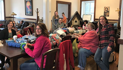 Christ Church Blanketeers meet regularly to create gifts of warmth for people in need.
